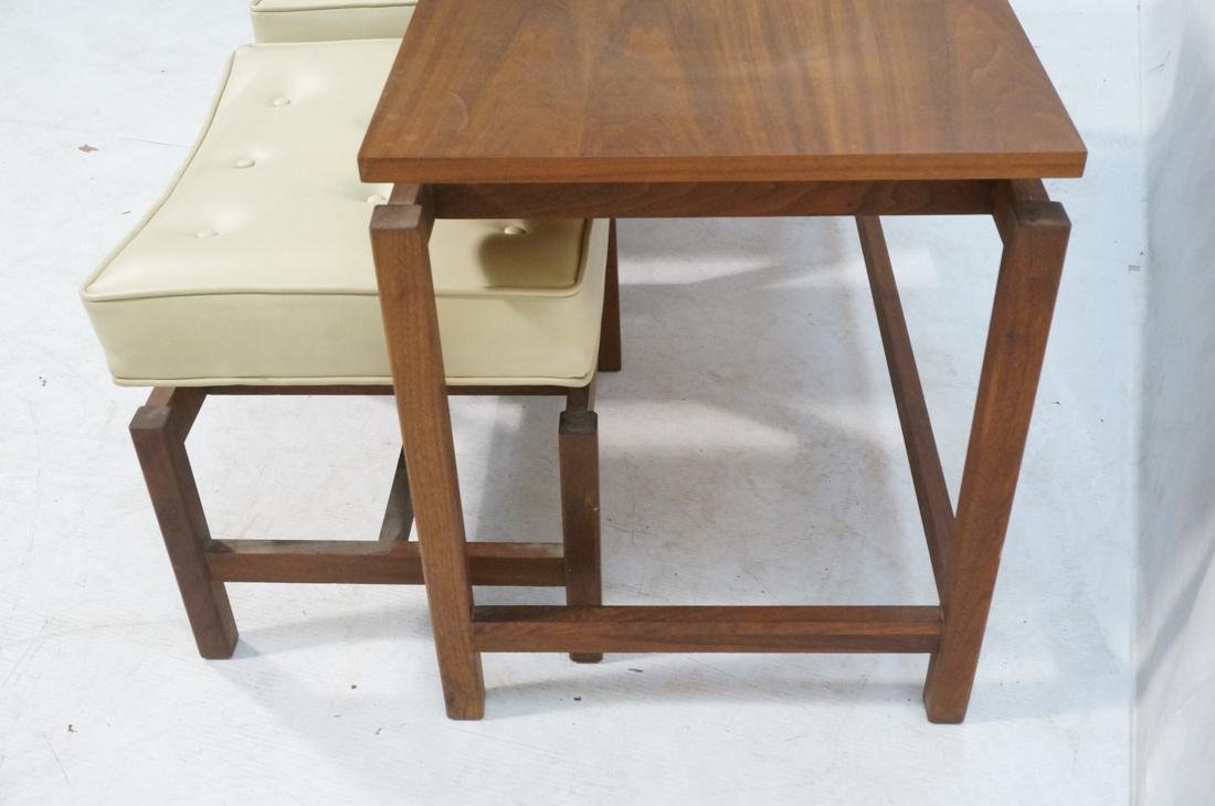 3 Pc JENS RISOM Style Low Hall Table Benches. Low - 4