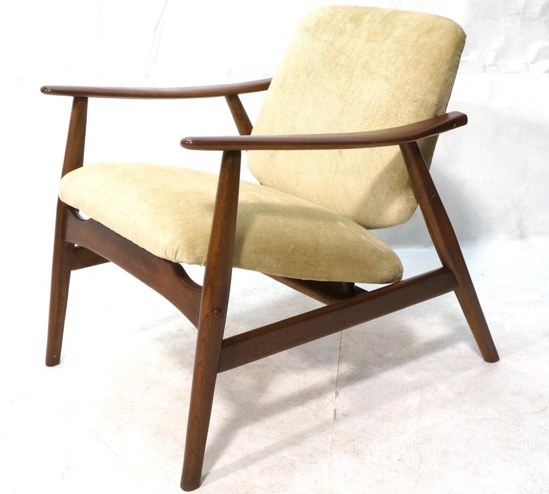 FINN JUHL Style Modern Slope Arm Lounge Chair. Ta