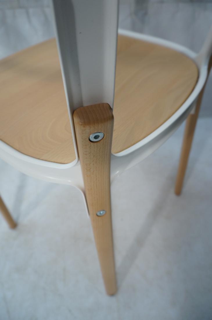 Set of 3 MAGIS Italian Steelwood Chairs. Modern C - 10