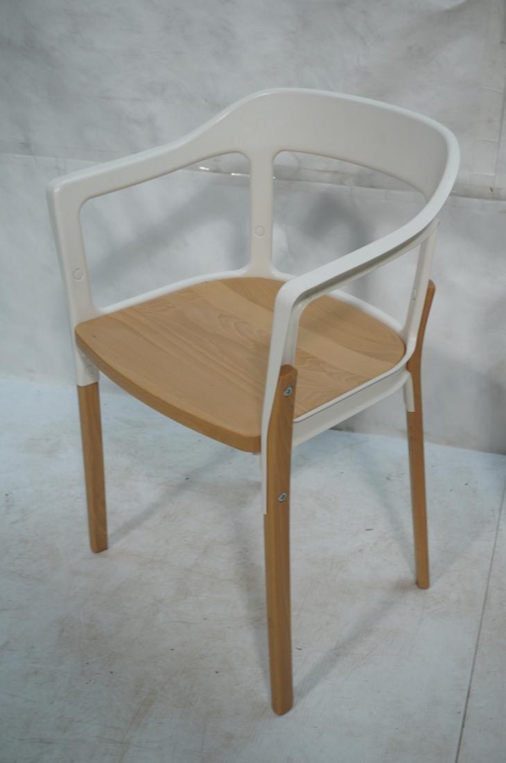 Set of 3 MAGIS Italian Steelwood Chairs. Modern C - 2