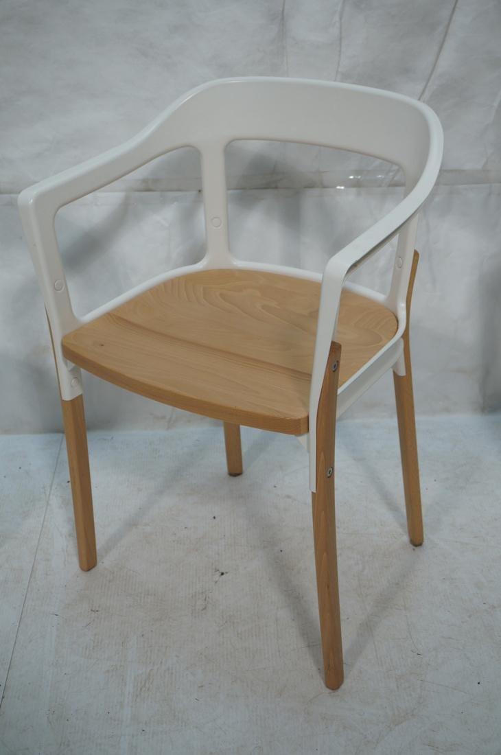 Set of 3 MAGIS Italian Steelwood Chairs. Modern C - 3