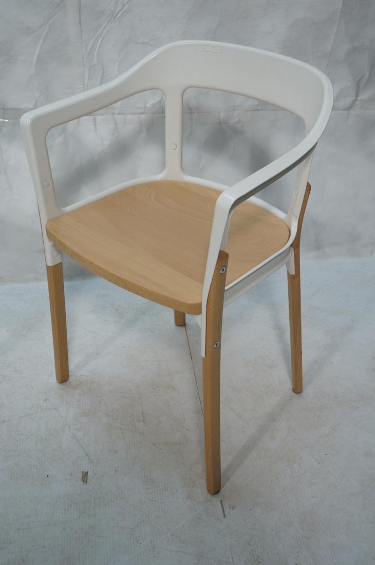 Set of 3 MAGIS Italian Steelwood Chairs. Modern C - 4