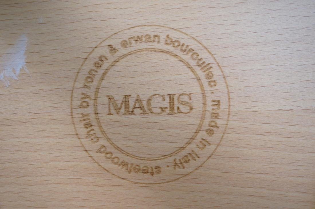 Set of 3 MAGIS Italian Steelwood Chairs. Modern C - 5
