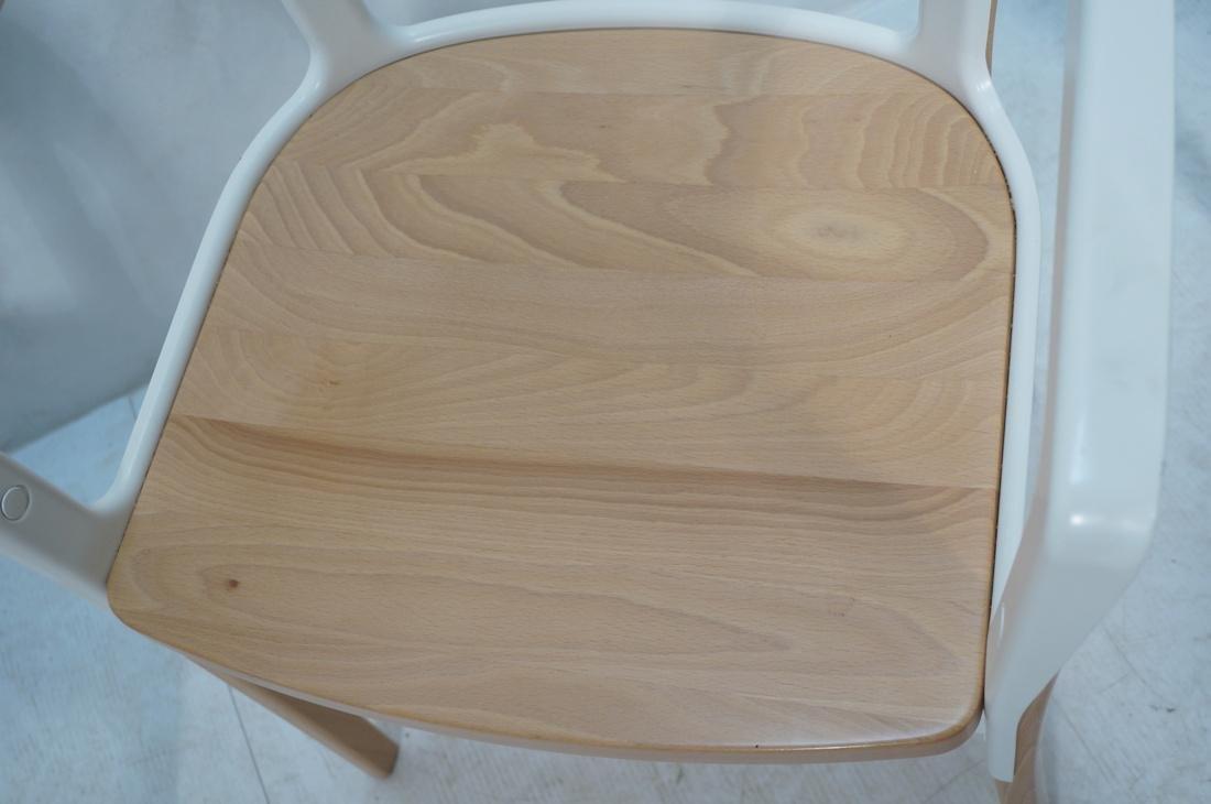 Set of 3 MAGIS Italian Steelwood Chairs. Modern C - 6