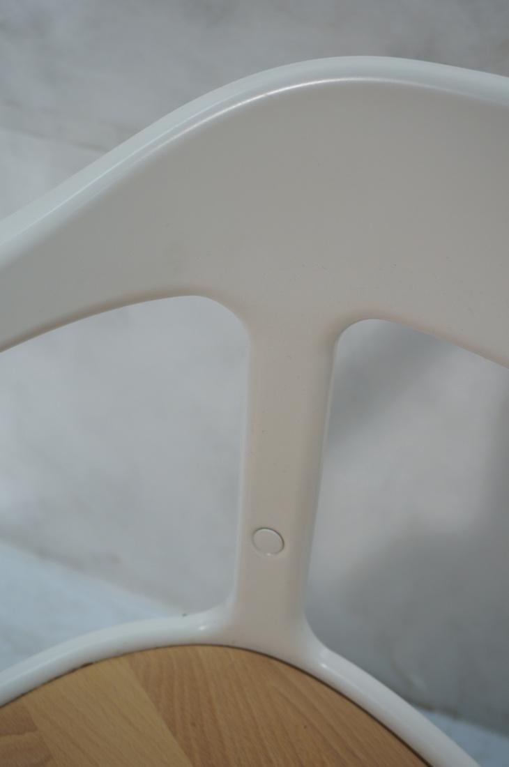 Set of 3 MAGIS Italian Steelwood Chairs. Modern C - 7