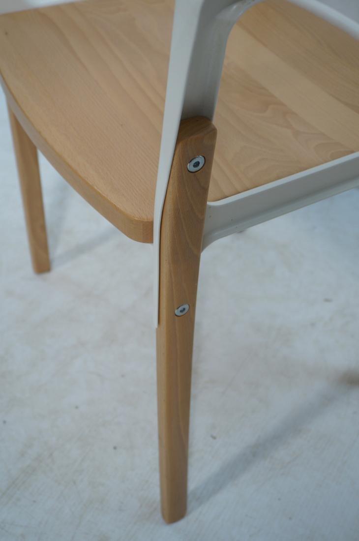 Set of 3 MAGIS Italian Steelwood Chairs. Modern C - 8