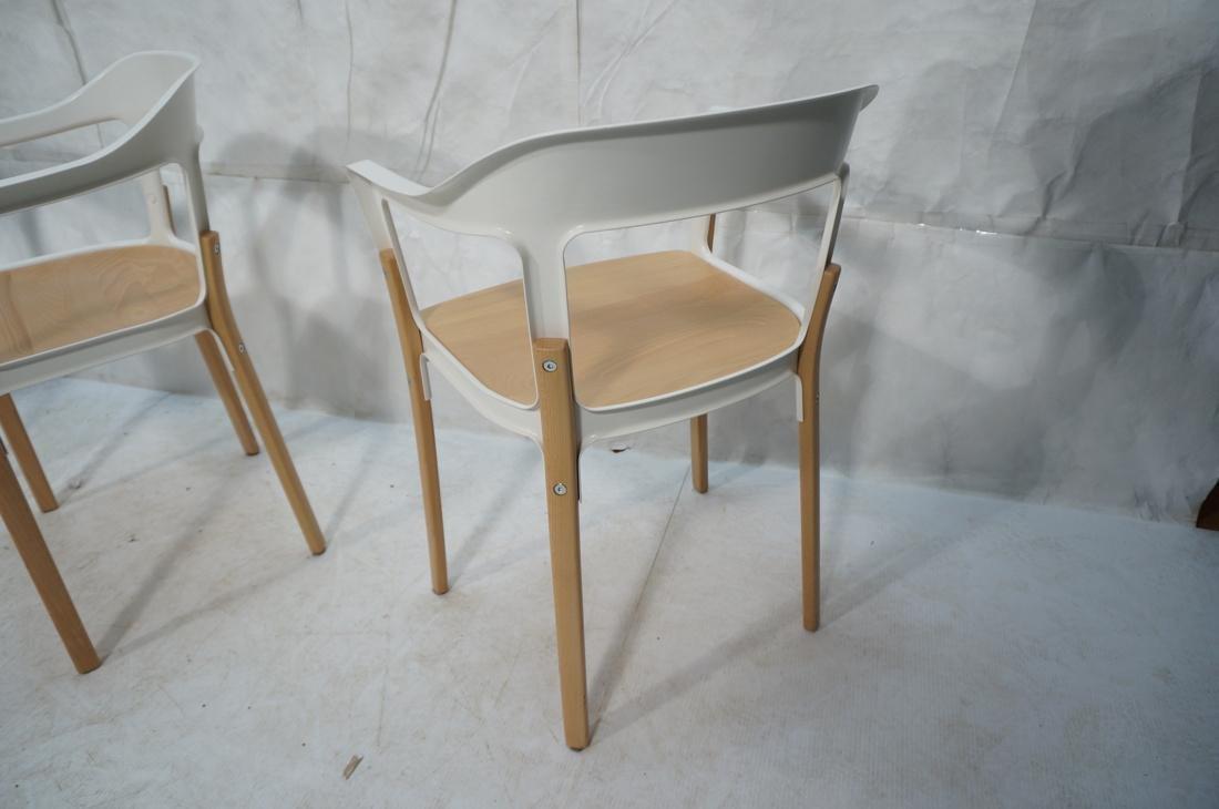 Set of 3 MAGIS Italian Steelwood Chairs. Modern C - 9
