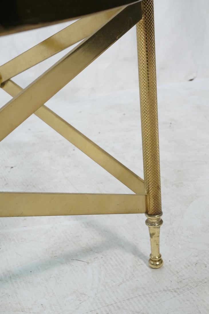 Decorator Brass Glass Round Coffee Table. Regency - 4