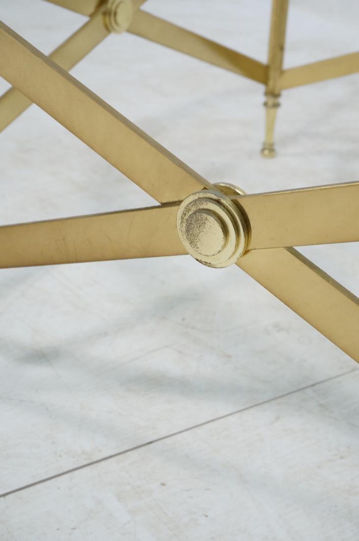 Decorator Brass Glass Round Coffee Table. Regency - 9