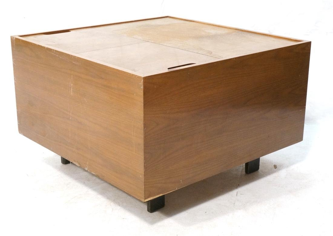 HERMAN MILLER George Nelson Walnut Cube Coffee Ta
