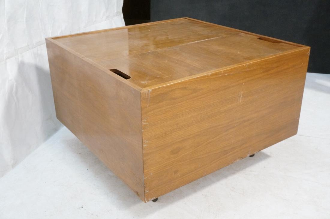HERMAN MILLER George Nelson Walnut Cube Coffee Ta - 6