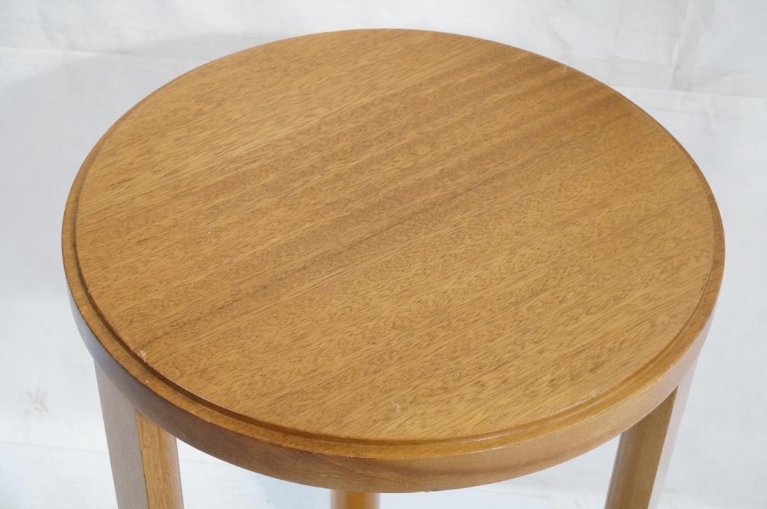 Modern Tripod Round Side Table. - 3