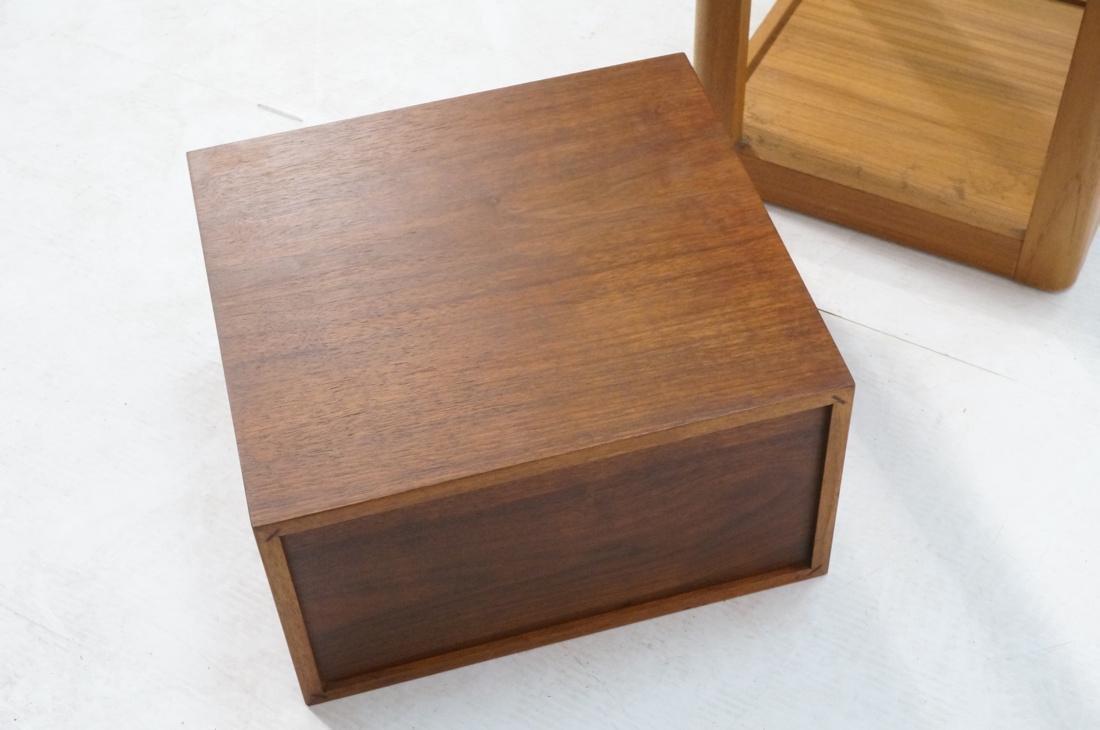 2 Pc Modern Lot Pedestal and Jewelry Box. Tall Da - 9