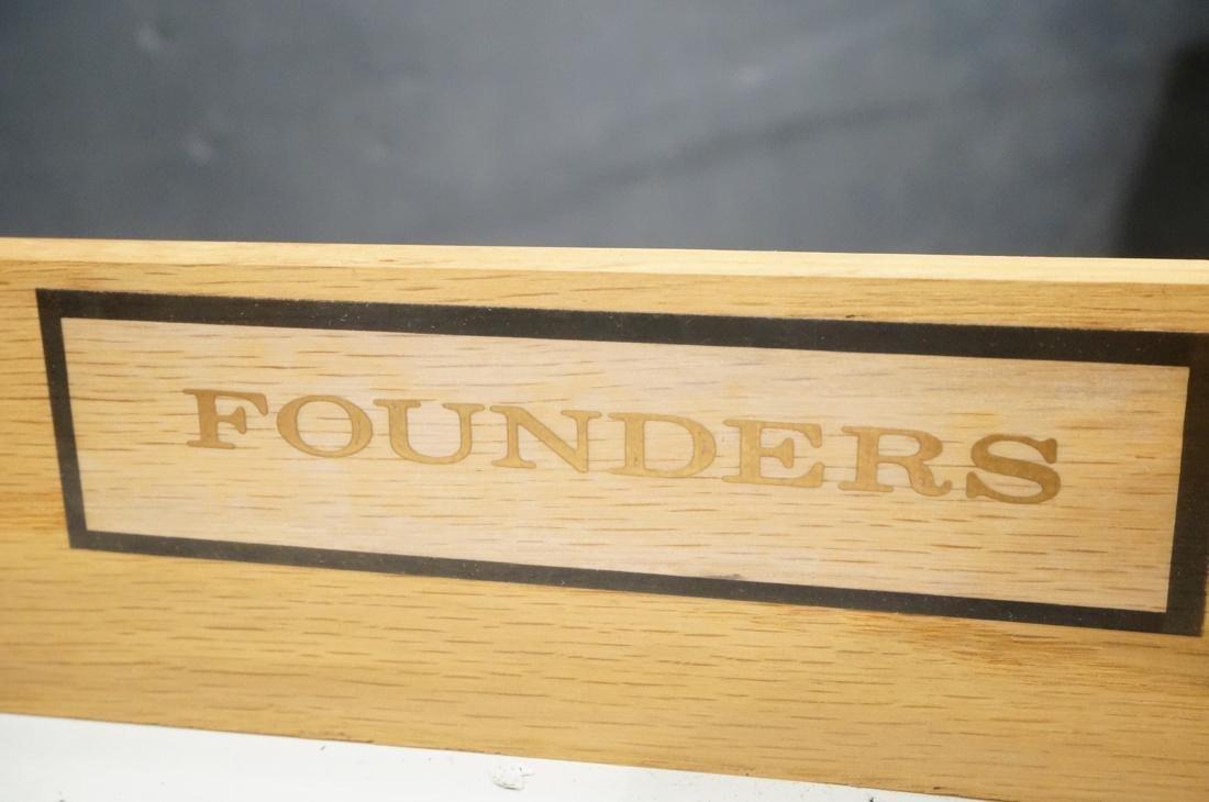 Pr FOUNDERS Walnut Modern 1 Drawer End Tables. Ro - 3
