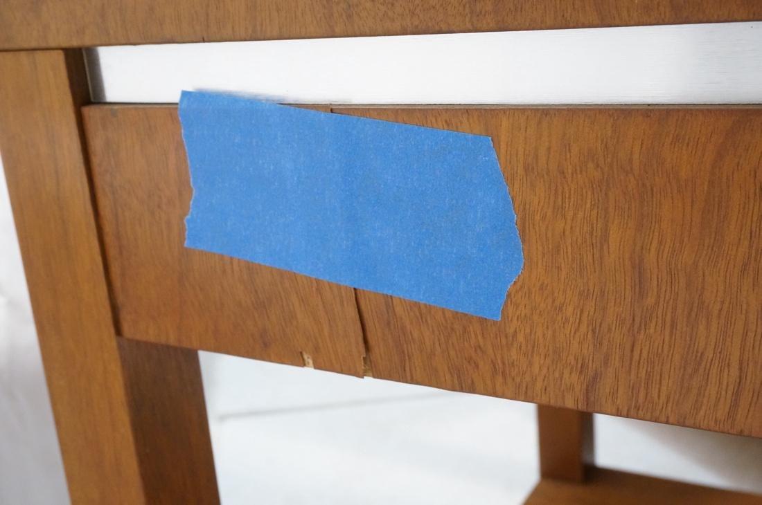 Pr FOUNDERS Walnut Modern 1 Drawer End Tables. Ro - 7