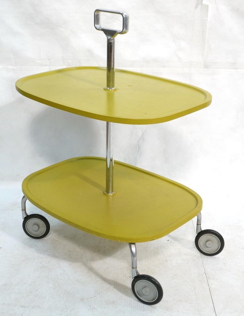 KARTELL Italian 2 Tier Rolling Cart. 2 green mold
