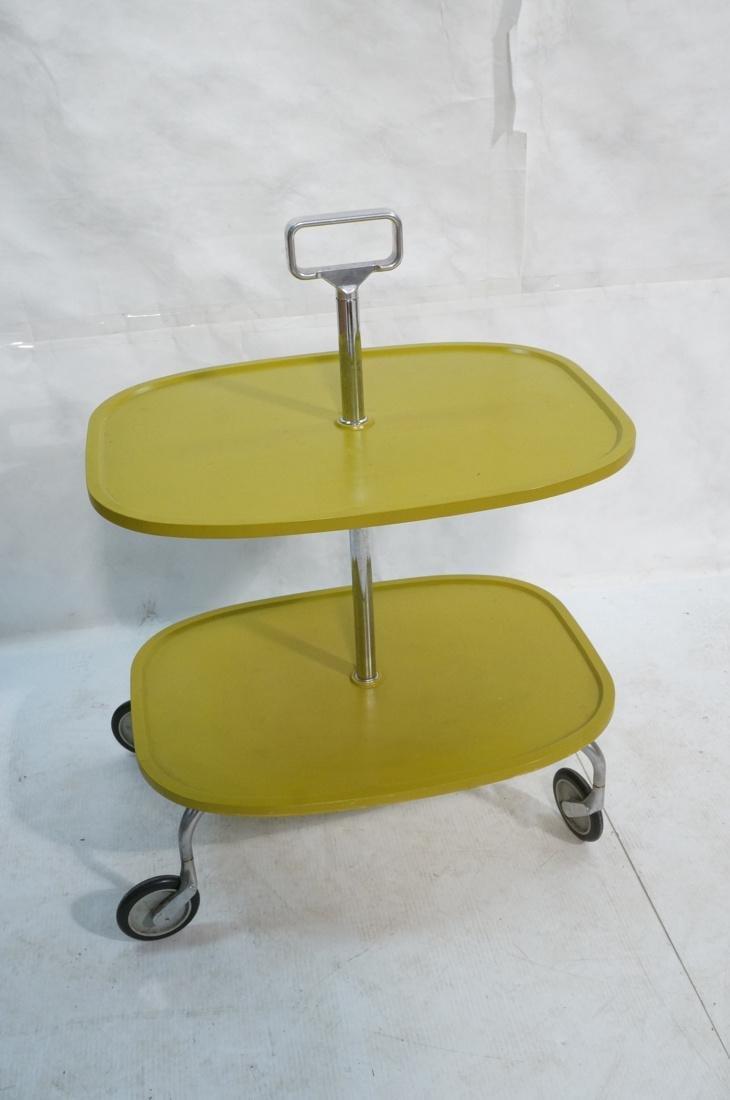 KARTELL Italian 2 Tier Rolling Cart. 2 green mold - 7