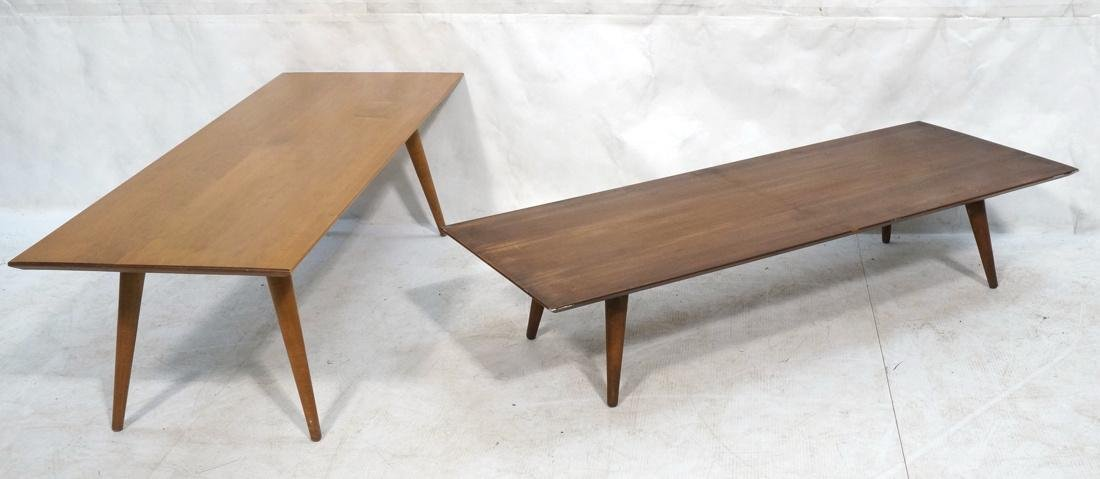 2 PAUL MCCOBB Modern Maple Coffee Tables. Tapered