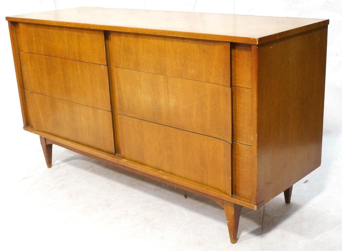6 Drawer AMERICAN MODERN Credenza. Sculptured dra