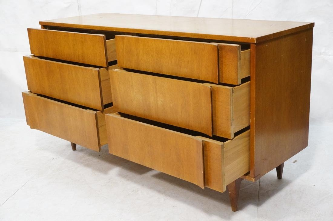 6 Drawer AMERICAN MODERN Credenza. Sculptured dra - 2