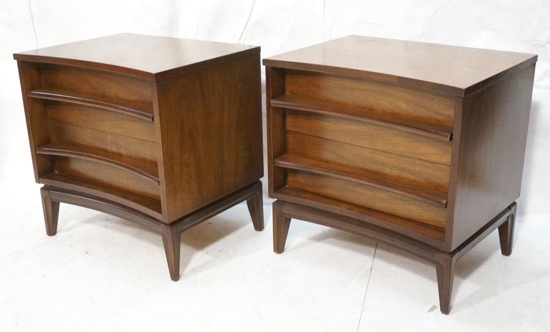 Pr AMERICAN MODERN 2 Drawer Night Stands. Decorat