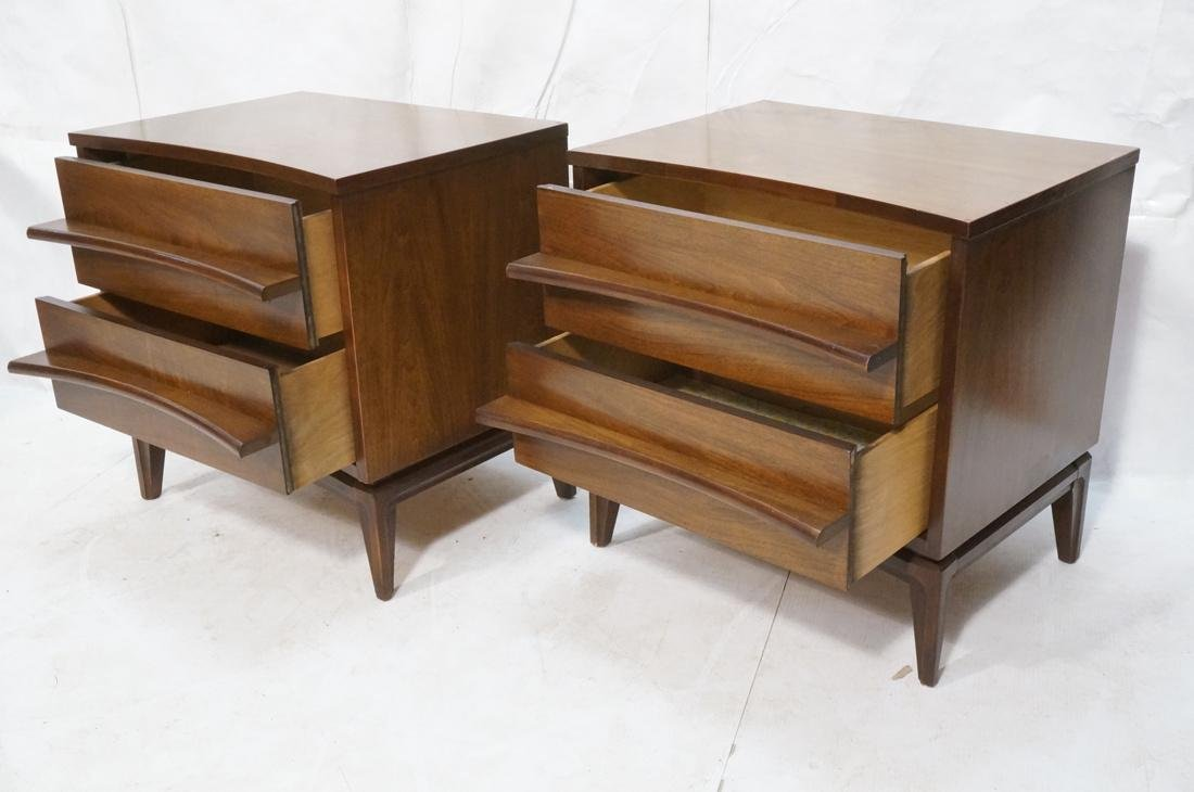 Pr AMERICAN MODERN 2 Drawer Night Stands. Decorat - 2