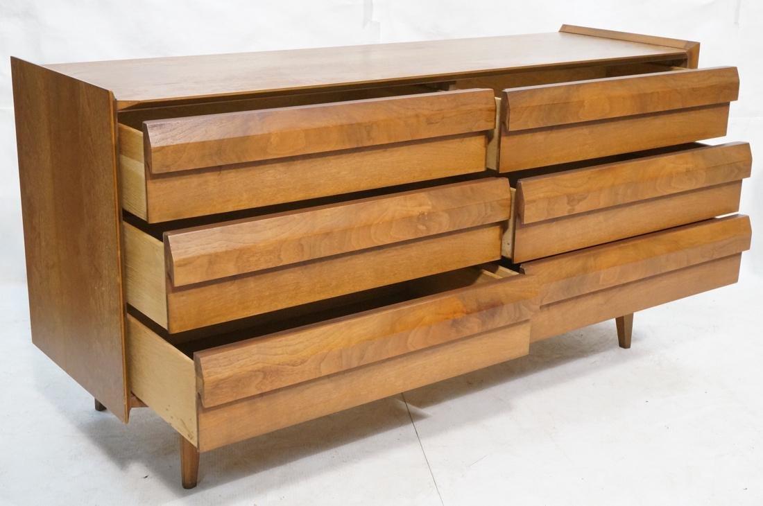 LANE 6 Drawer Credenza Side Board Dresser. Walnut - 2