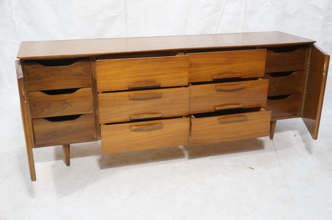 Modern Walnut Credenza Side Board Dresser. 2 Door - 2