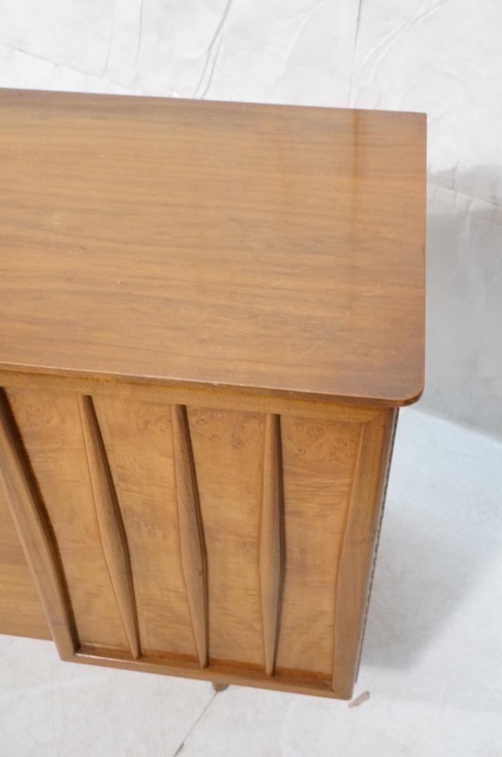 Modern Walnut Credenza Side Board Dresser. 2 Door - 3