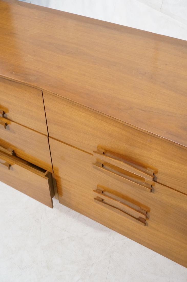 Modern Walnut Credenza Side Board Dresser. 2 Door - 4