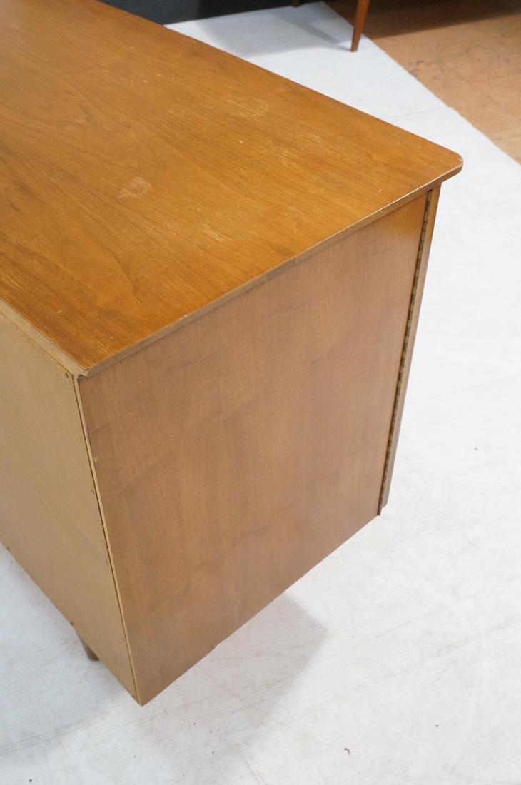 Modern Walnut Credenza Side Board Dresser. 2 Door - 6
