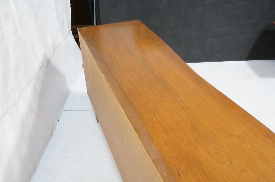 Modern Walnut Credenza Side Board Dresser. 2 Door - 7
