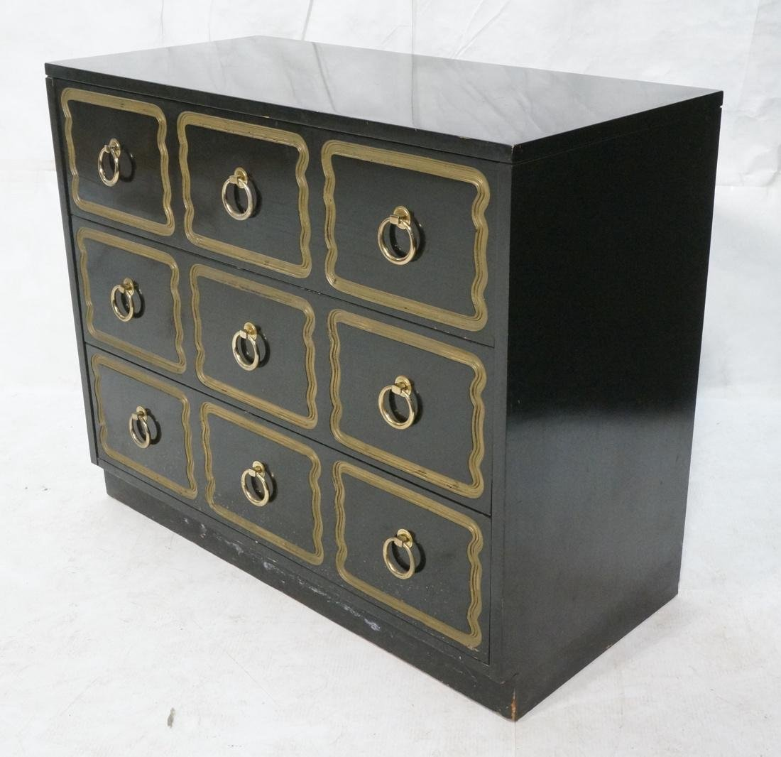 DOROTHY DRAPER style Ebonized Dresser Chest.  Bra