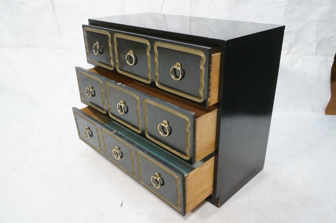 DOROTHY DRAPER style Ebonized Dresser Chest.  Bra - 2