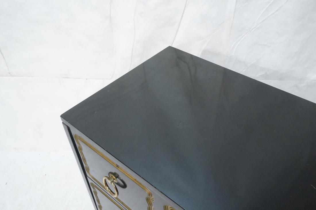 DOROTHY DRAPER style Ebonized Dresser Chest.  Bra - 3