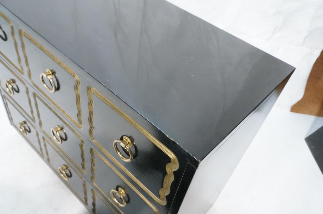 DOROTHY DRAPER style Ebonized Dresser Chest.  Bra - 4