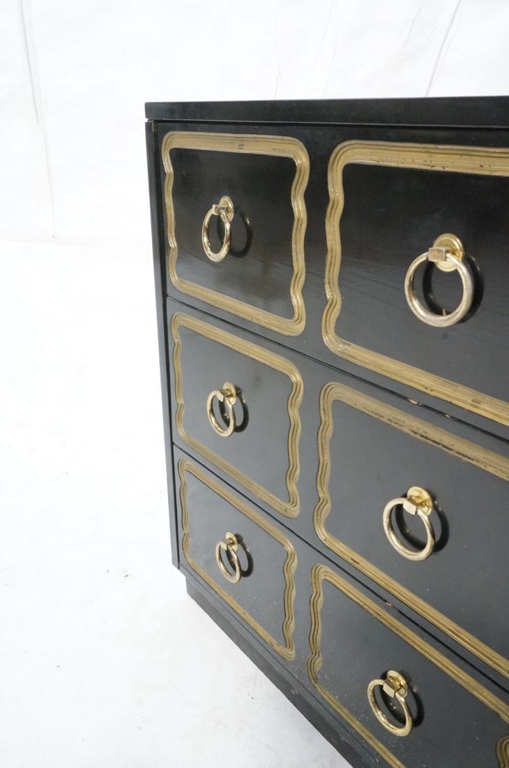 DOROTHY DRAPER style Ebonized Dresser Chest.  Bra - 5