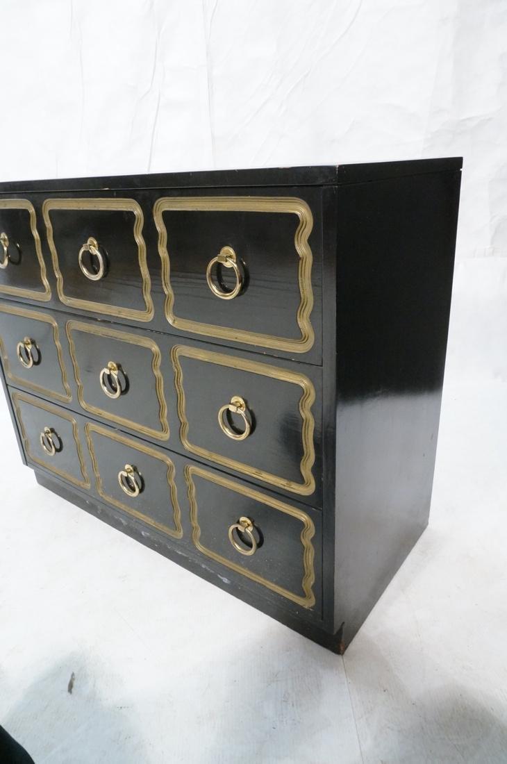 DOROTHY DRAPER style Ebonized Dresser Chest.  Bra - 6
