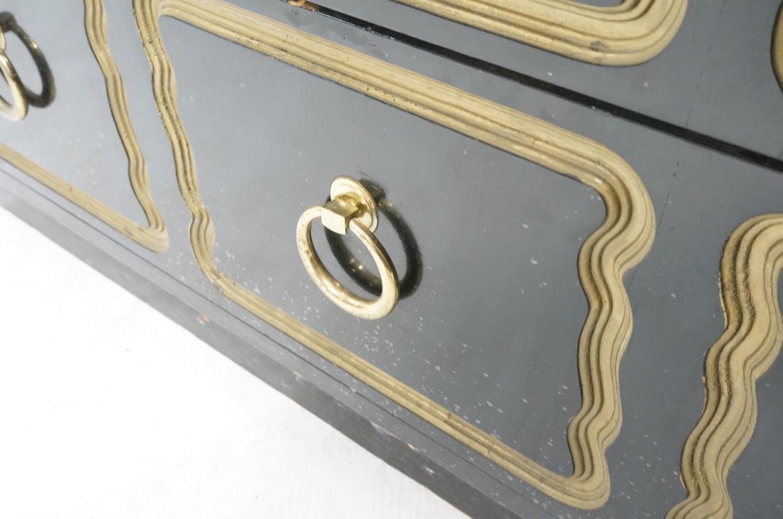 DOROTHY DRAPER style Ebonized Dresser Chest.  Bra - 7