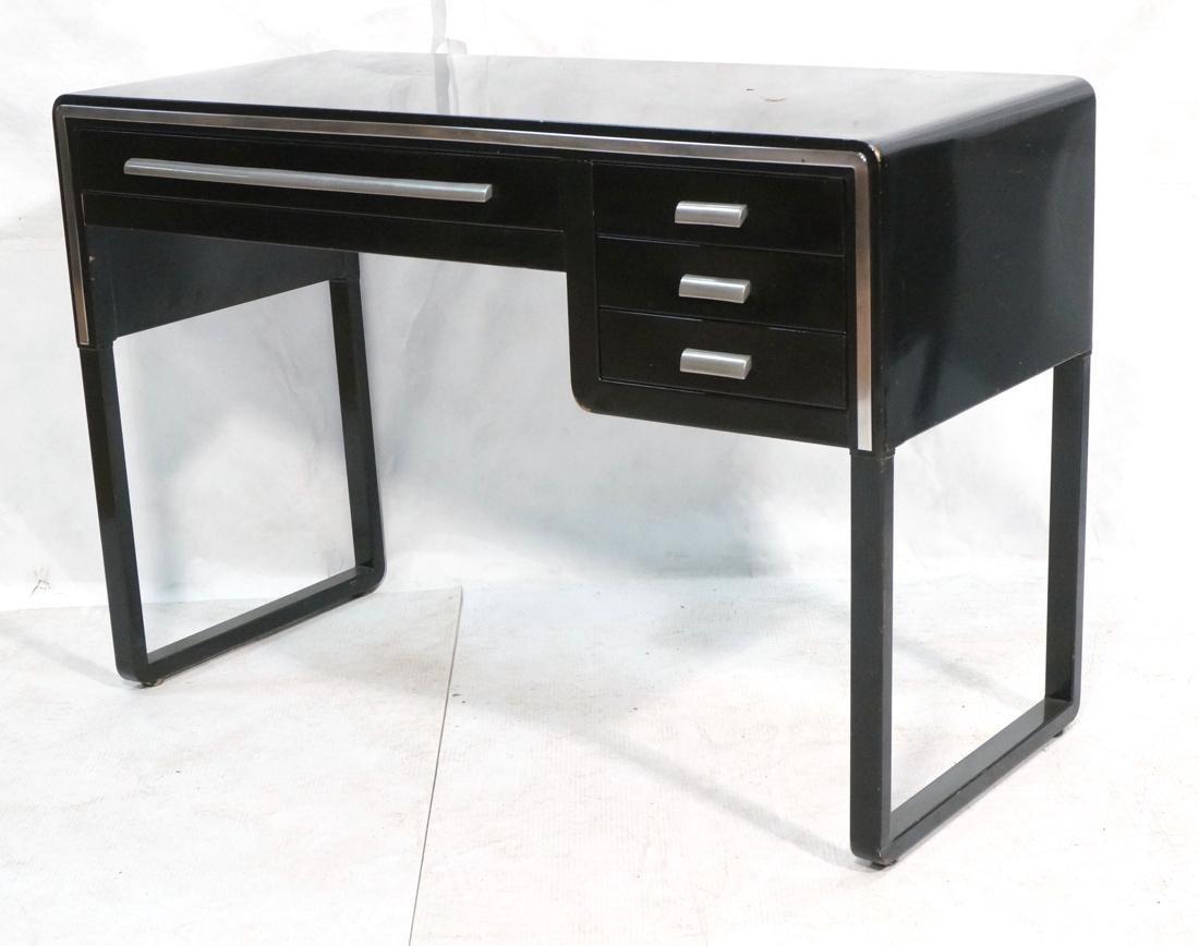 SIMMONS Modernist Metal Desk. ART DECO. Four draw