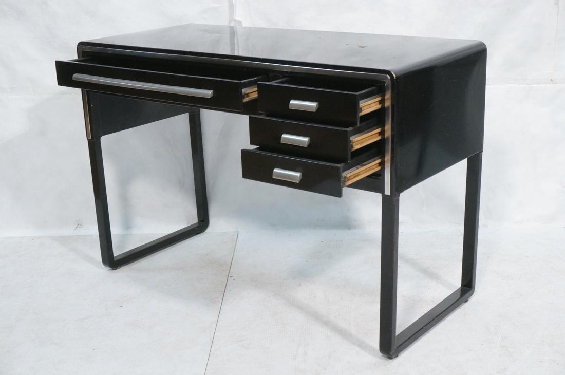 SIMMONS Modernist Metal Desk. ART DECO. Four draw - 2