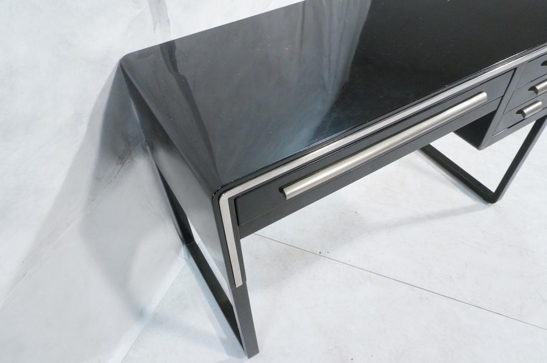 SIMMONS Modernist Metal Desk. ART DECO. Four draw - 4