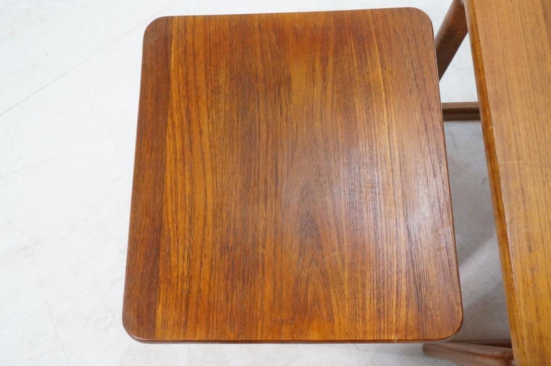 Set 3 Danish Teak Nesting Tables. Open frame leg - 2