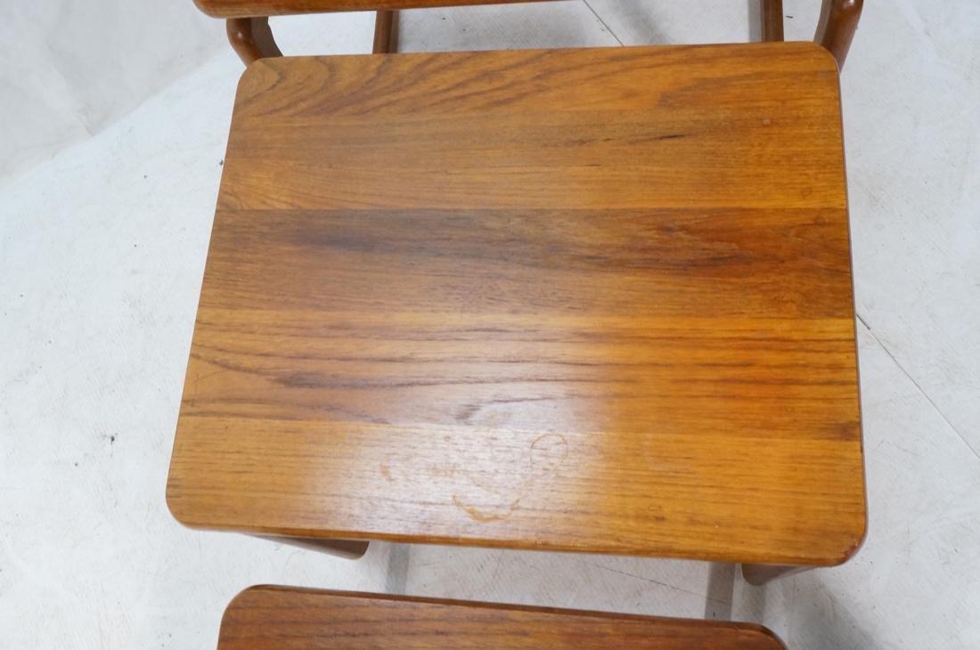 Set 3 Danish Teak Nesting Tables. Open frame leg - 3