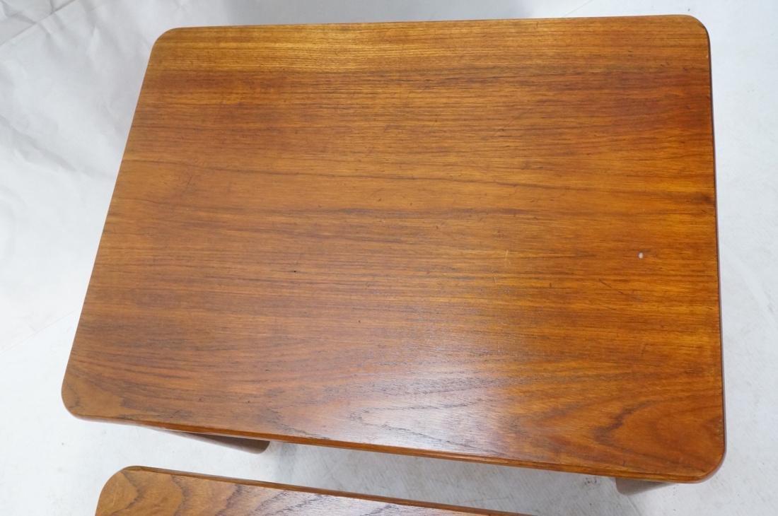 Set 3 Danish Teak Nesting Tables. Open frame leg - 4