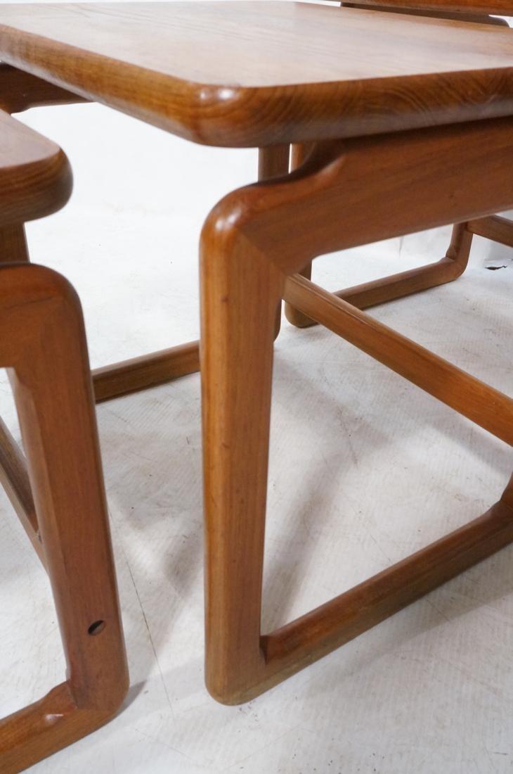Set 3 Danish Teak Nesting Tables. Open frame leg - 5