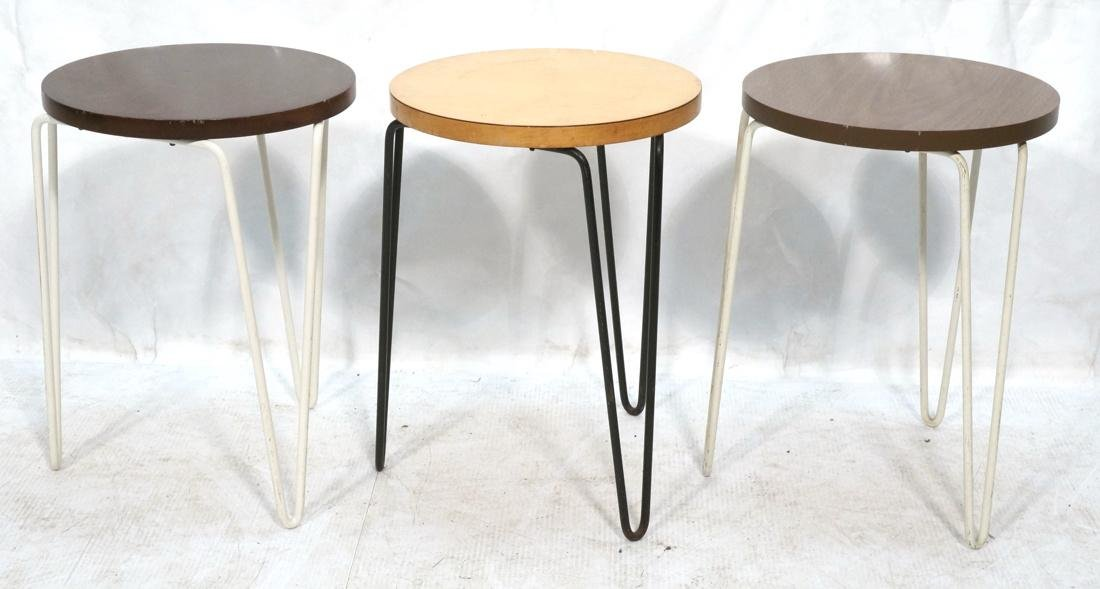 Set 3 Knoll Stacking Nesting Tables Stools. Round