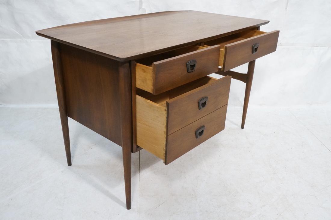 American Modern Walnut Desk. Tapered peg legs. Sl - 2