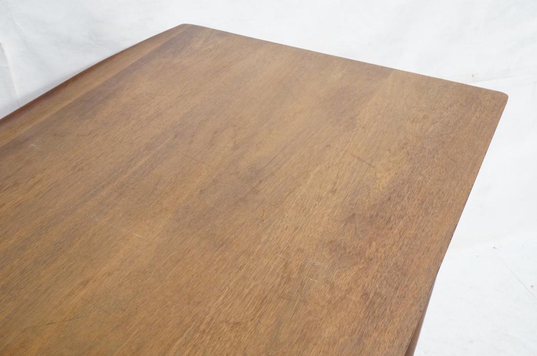 American Modern Walnut Desk. Tapered peg legs. Sl - 3