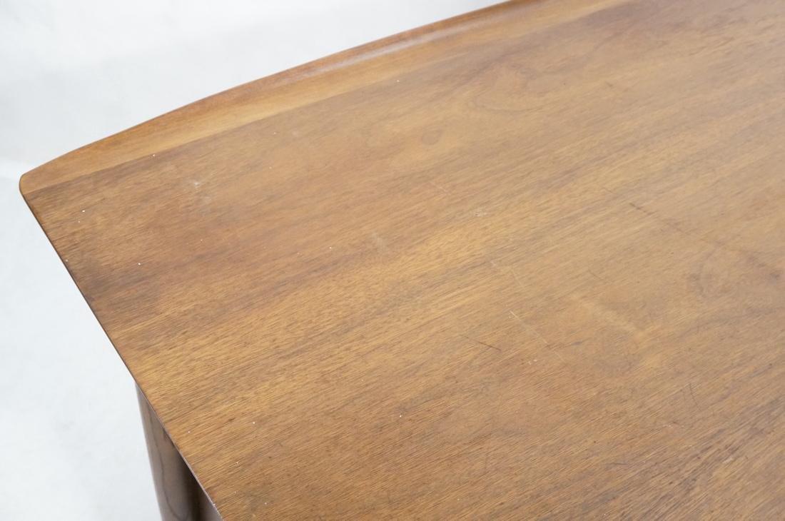 American Modern Walnut Desk. Tapered peg legs. Sl - 4